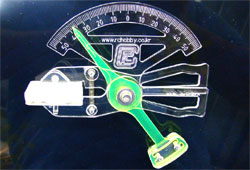 Brico 다용도 타면 각도계 (투명)