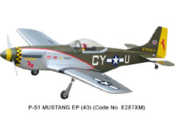World Model  P-51 Mustang EP (40) - 1250mm