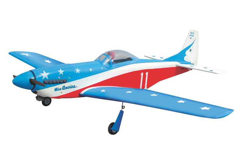 World Model  P-51 Mustang 40 (Miss America) 1460mm